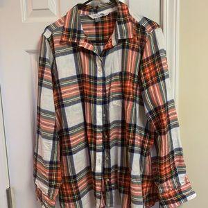 Old Navy Button Down Plaid Shirt